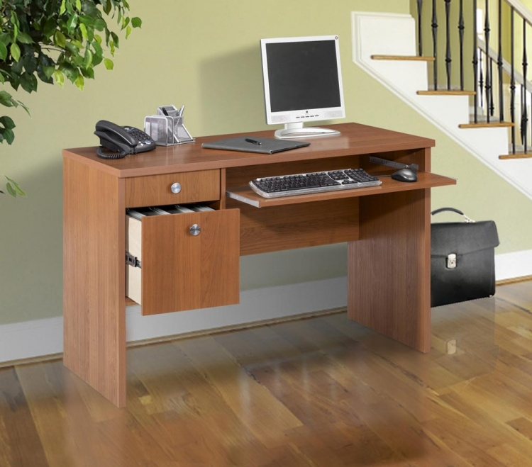 Essentials 24 x 48 Inch Desk - Cappuccino