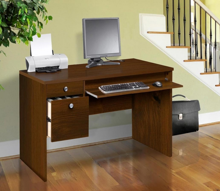Essentials 24 x 48 Inch Desk - Truffle