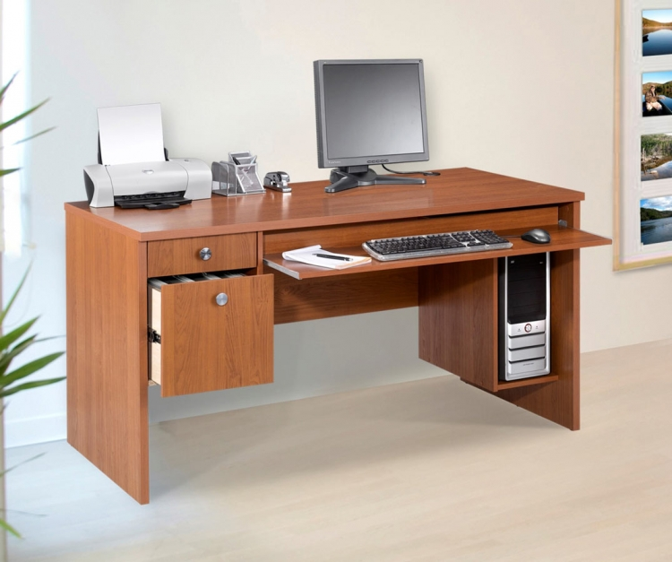 Essentials 30 x 60 Inch Desk - Cappuccino - Nexera