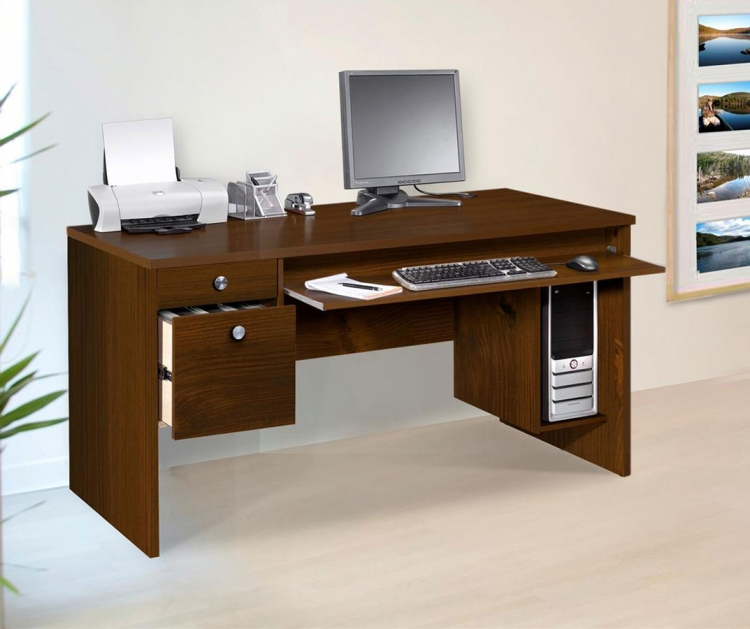 Essentials 30 x 60 Inch Desk - Truffle