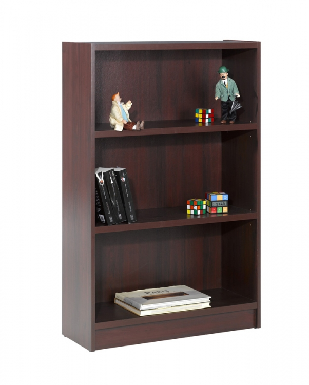 Essentials 48 Inch Tall Bookcase - Mahogany - Nexera