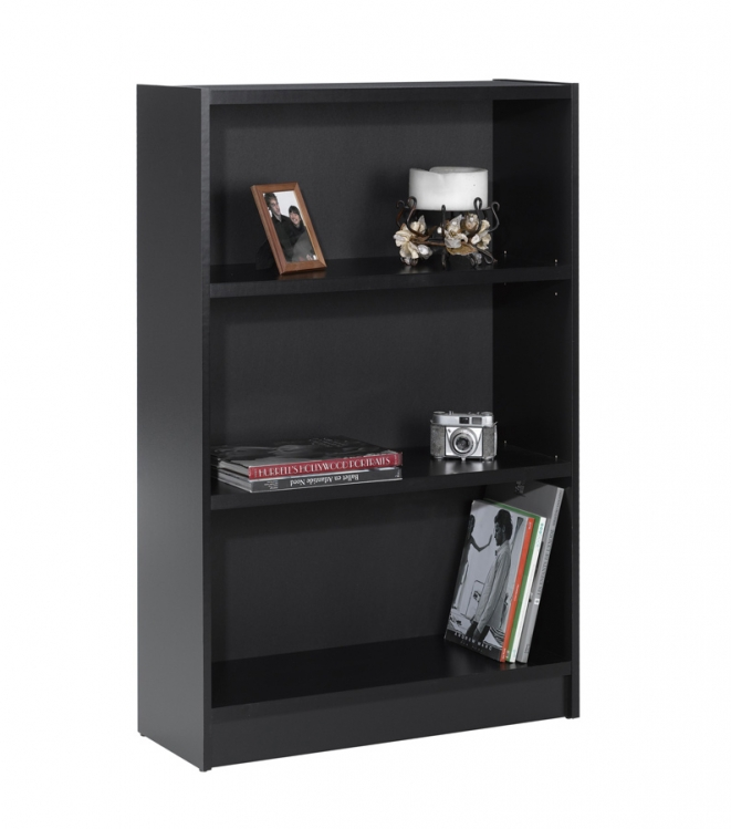 Essentials 48 Inch Tall Bookcase - Black - Nexera