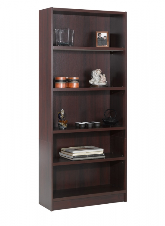 Essentials 72 Inch Tall Bookcase - Mahogany - Nexera