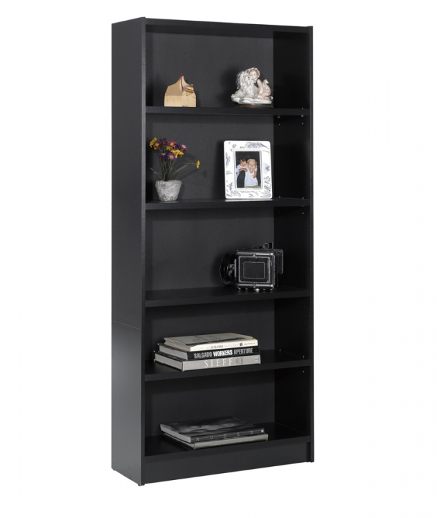 Essentials 72 Inch Tall Bookcase - Black - Nexera