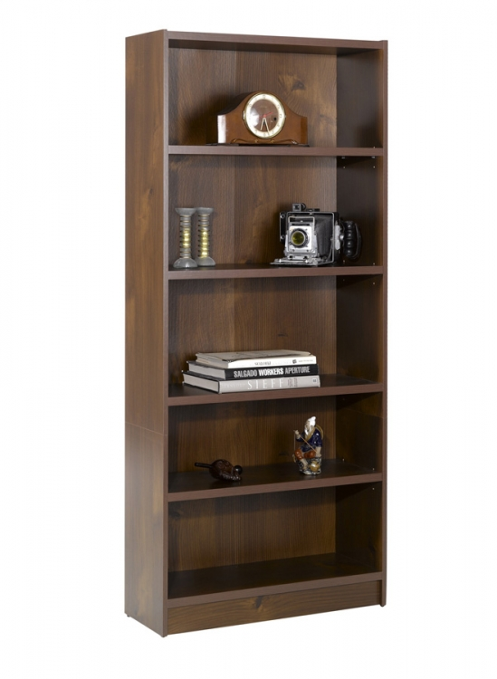 Essentials 72 Inch Tall Bookcase - Truffle - Nexera