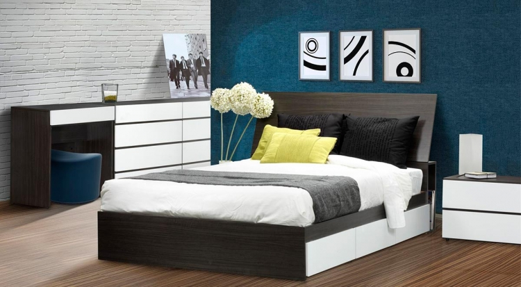 Allure Full Storage Bed Set - Nexera