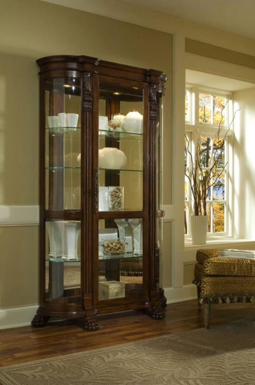 Foxcroft Curved End Curio - Pulaski