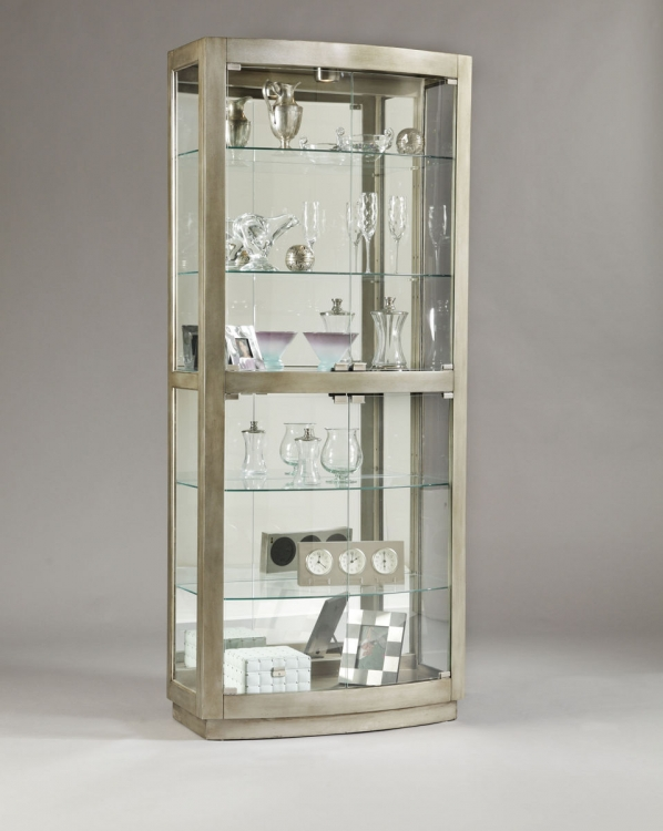 Platinum Glass Door Curio - Pulaski
