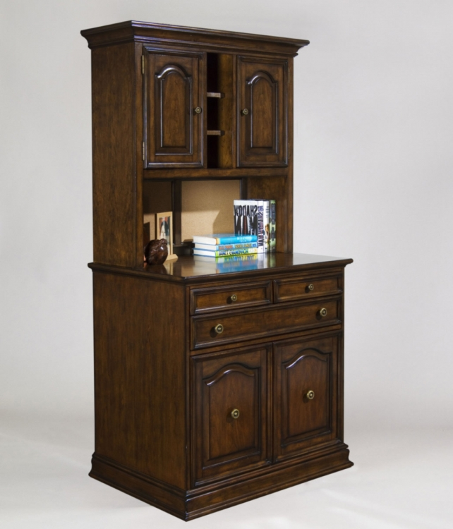 Hazelnut Work Center Cabinet