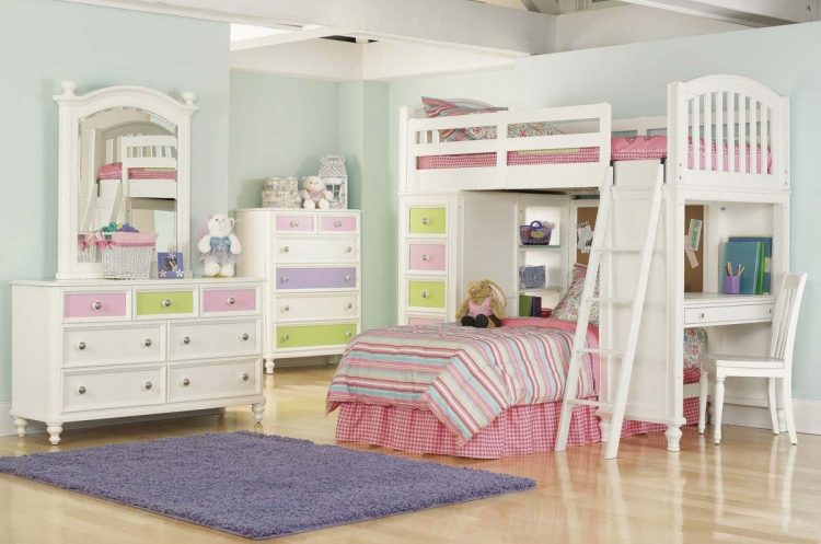 Pawsitively Yours Vanilla Loft Bedroom Collection - Pulaski