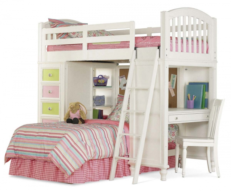 Pawsitively Yours Vanilla Loft Bed - Pulaski
