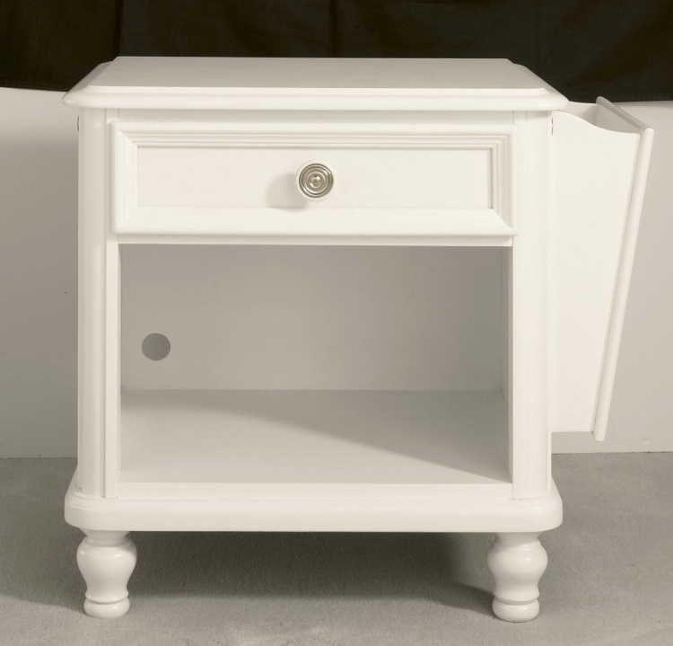 Pawsitively Yours Vanilla Nightstand