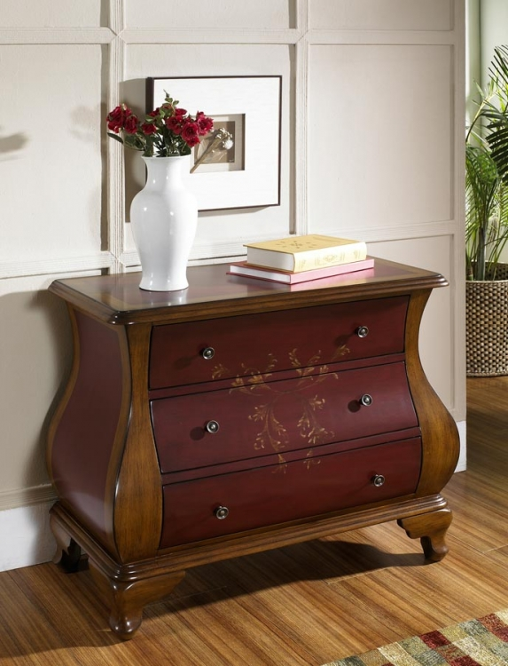 Center Stage Red/Brown Accent Chest - Pulaski