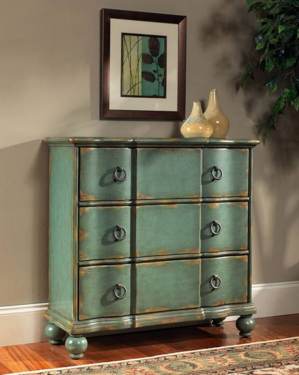 Weathered Blue Hall Chest - Pulaski