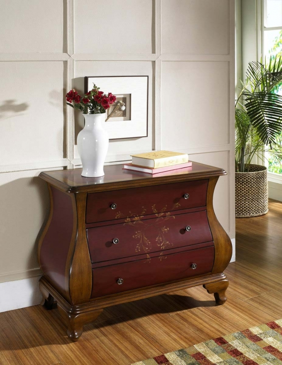 Center Stage Red/Brown Accents Chest - Pulaski