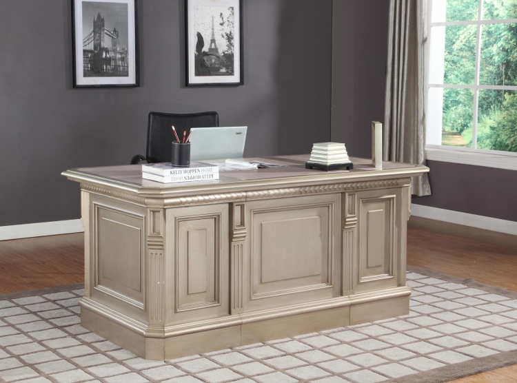 Allure Double Pedestal Executive Desk - Parker House