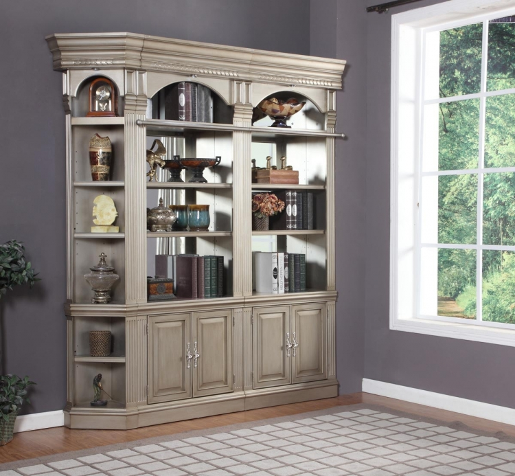 Allure Corner Bookcase Set