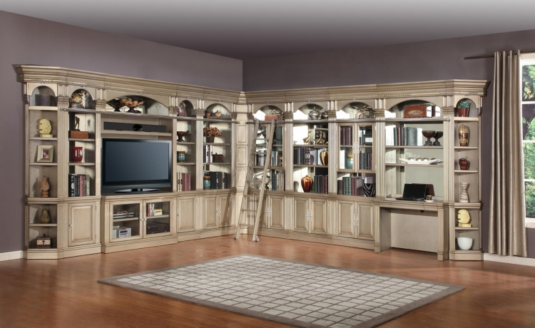 Allure Full Wall Library Bookcase Set 2 - Parker House