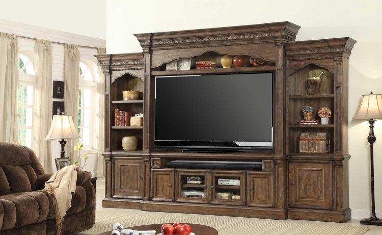 Aria 79in Entertainment Center Estate Wall Unit