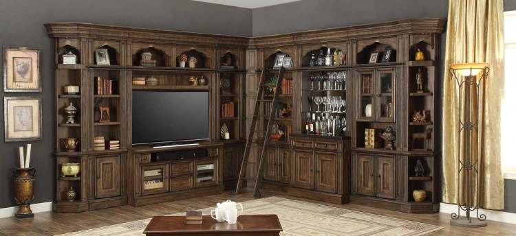 Aria Library Wall Unit D