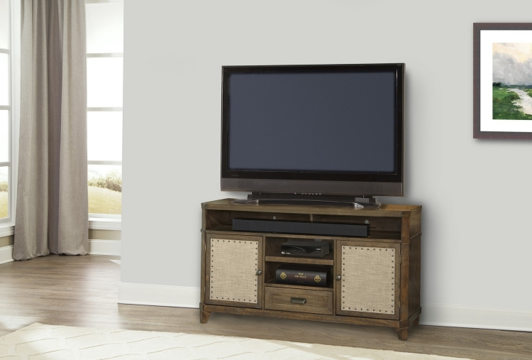 Aberdeen 55-inch TV Console with Linen Panels