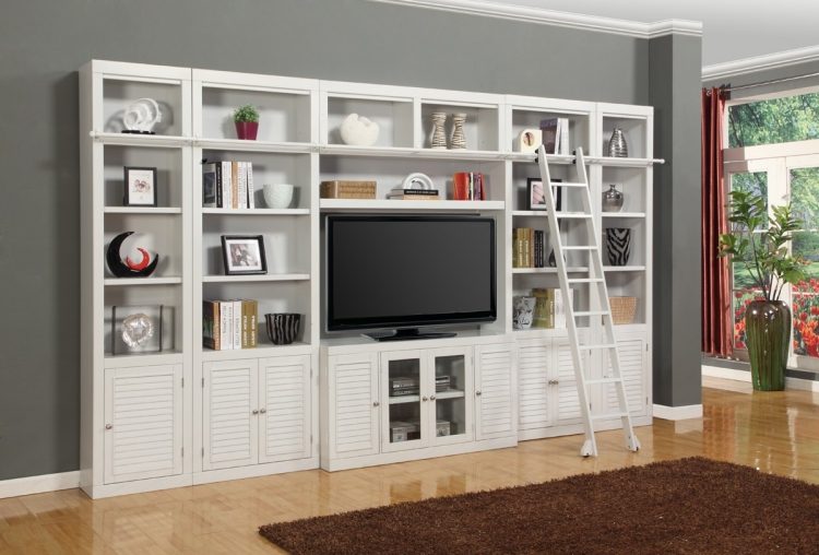 Boca Library Bookcase Entertainment Set - A