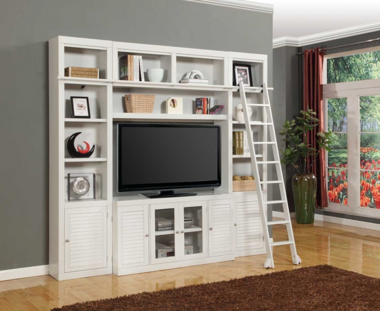 Boca Library Bookcase Entertainment Set - B - Parker House