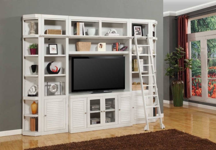 Boca Library Bookcase Entertainment Set - C