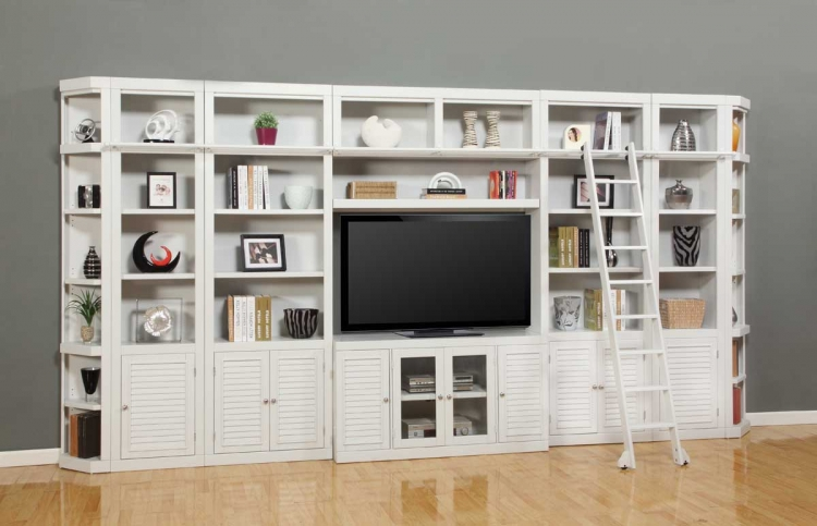 Boca Library Bookcase Entertainment Set - E - Parker House