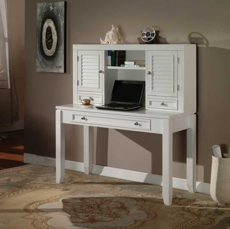 Boca 47in Writing Desk with Hutch