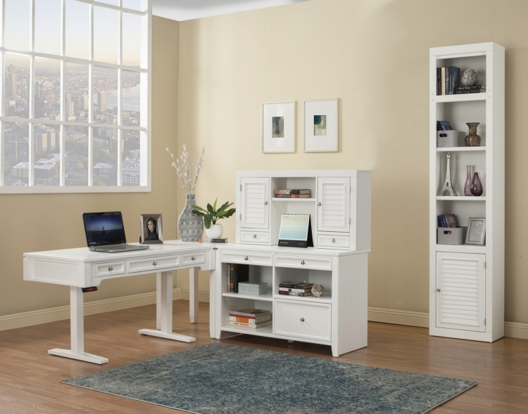 Boca Home Office Set 1 - Cottage White