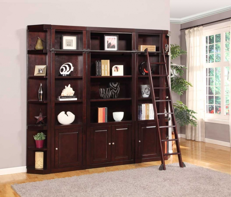 Boston Library Bookcase Set - A