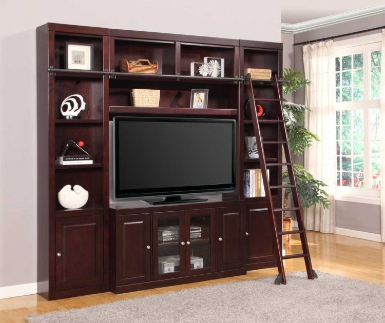 Boston Library Bookcase Entertainment Set - B