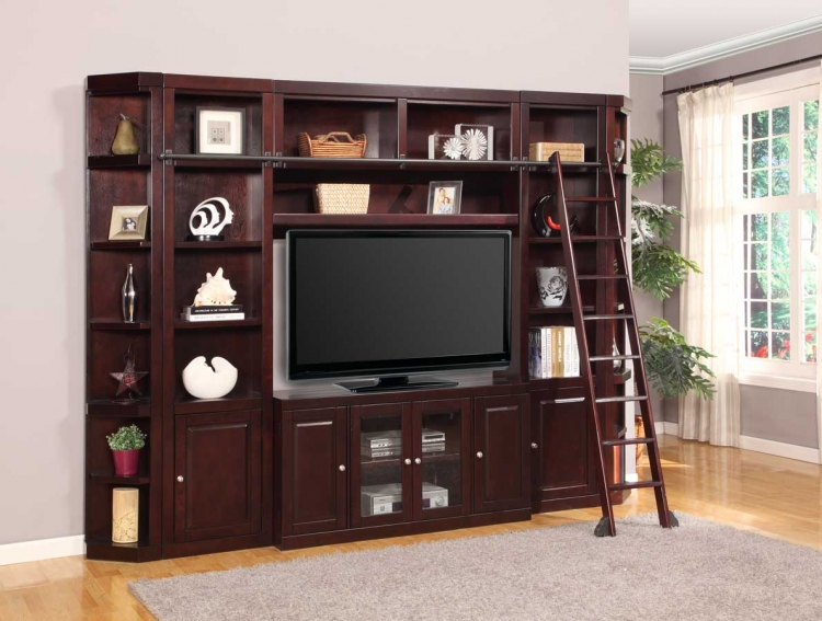 Boston Library Bookcase Entertainment Set - C