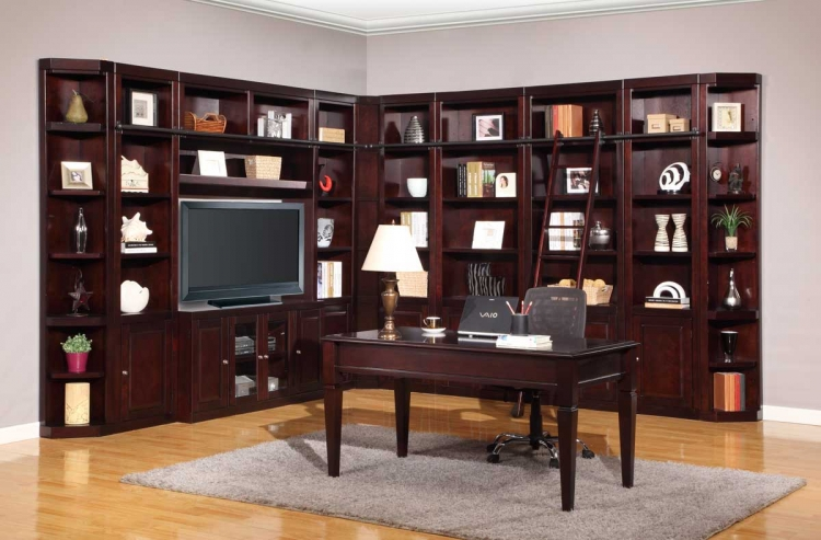 Boston Library Bookcase Wall Unit Set - A