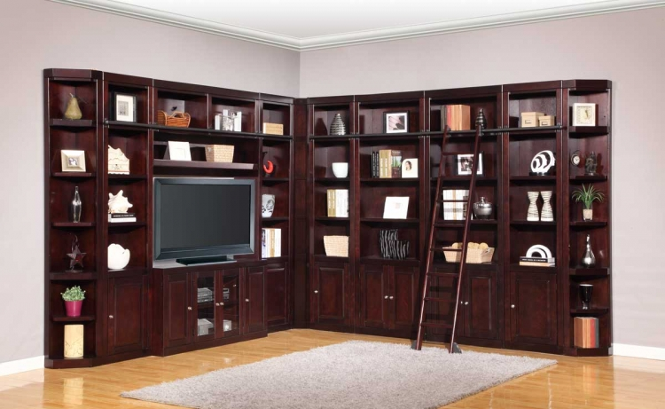 Boston Library Bookcase Wall Unit Set - D - Parker House
