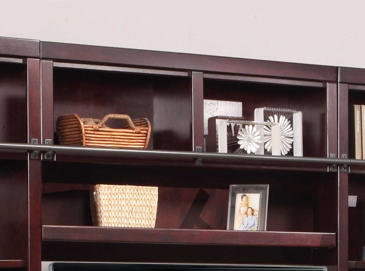 Boston 56in Bookcase Bridge -Shelf-Backpanel