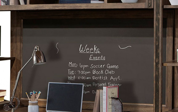 Brooklyn Chalkboard Backpanel - Antique Burnished Pine