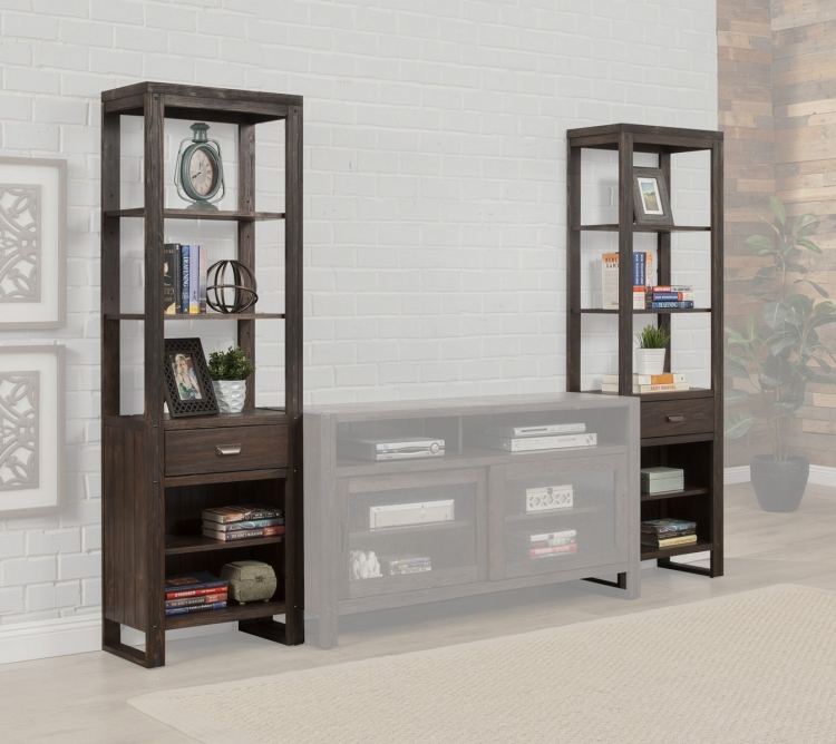 Brooklyn Piers Cabinets-Pair - Antique Burnished Pine