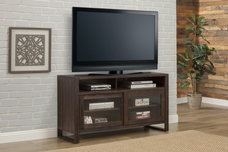 Brooklyn 60-inch TV Console - Antique Burnished Pine