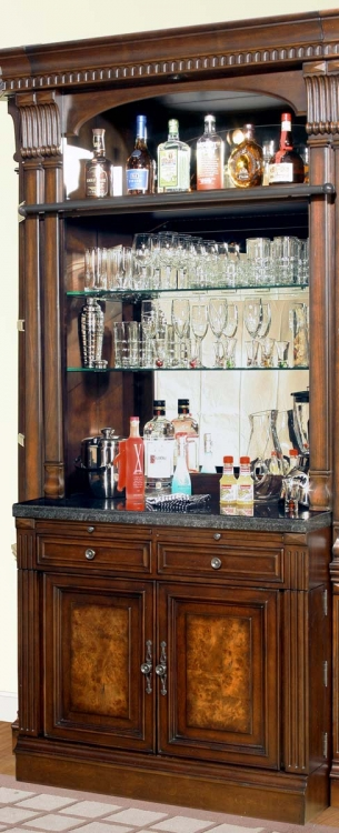 Parker House Corsica Bar Base and Hutch 2Pc