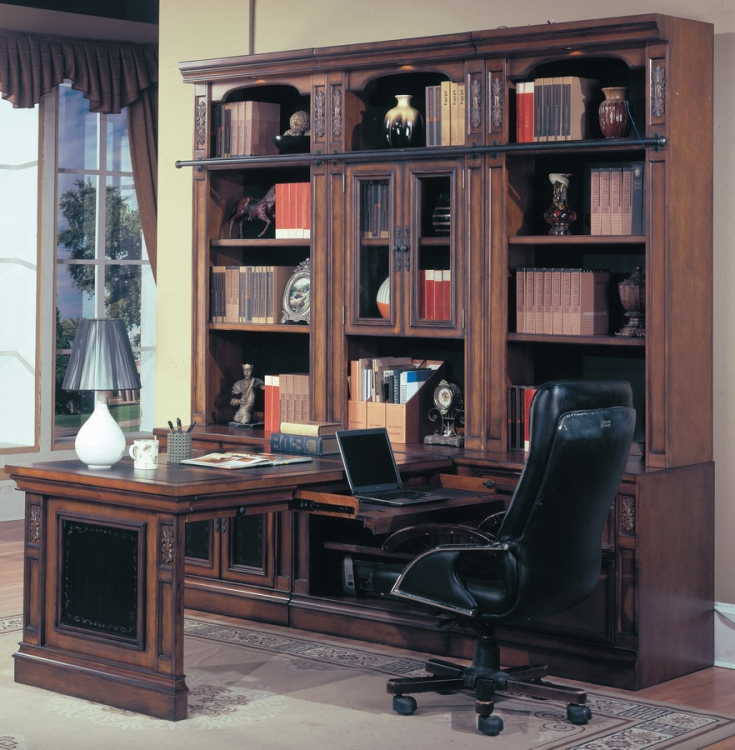 DaVinci Home Office Suite 7pc Peninsula Group - Parker House