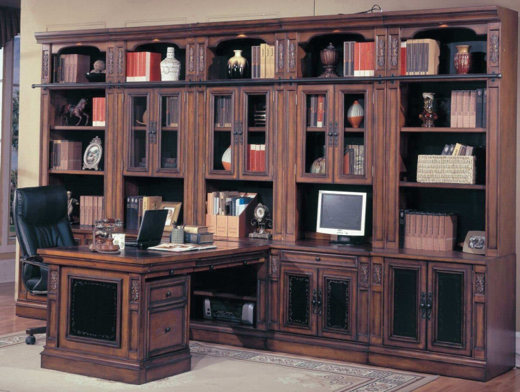 DaVinci Home Office Suite Full Wall System - Parker House