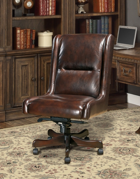 Prestige DC-108-CI Leather Desk Chair - Cigar