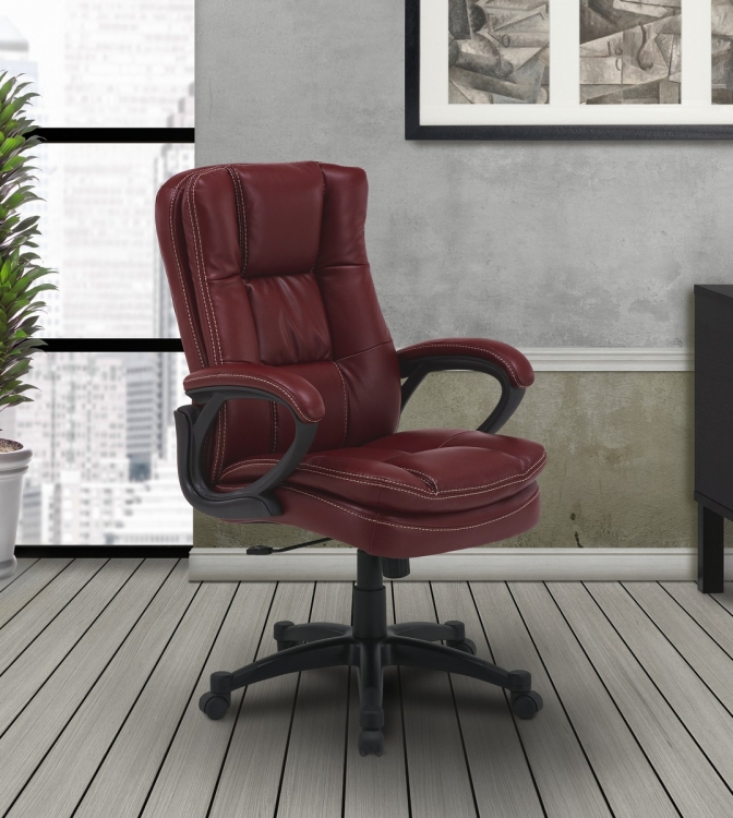 Signature DC-204-GAR Desk Chair - Garnet