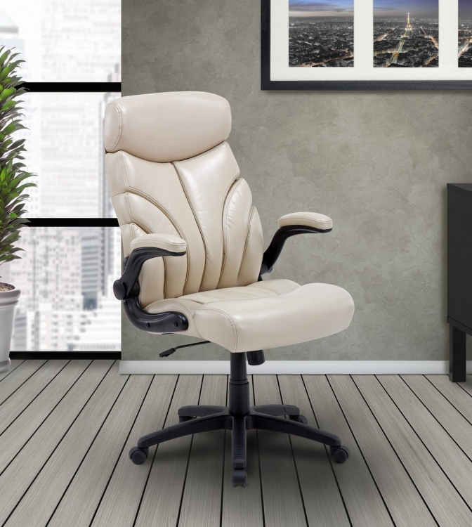 Signature DC-205-CRE Lift Arm Desk Chair - Creme
