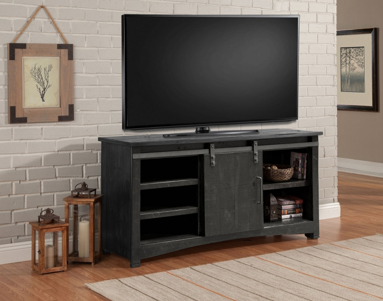 Durango 63-inch Console with Sliding Door - Rustic Dark Pine