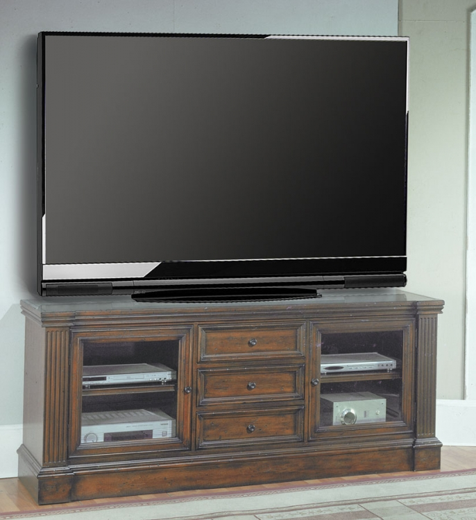Genoa 77in TV Console with Power Center - Parker House