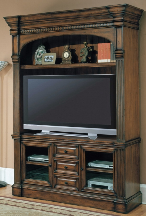 Genoa 3pc Entertainment Center with 65in TV Console