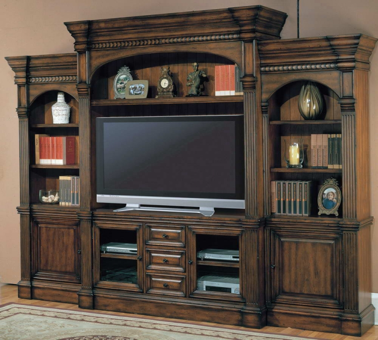 Genoa 5pc Wall System with 65in TV Console